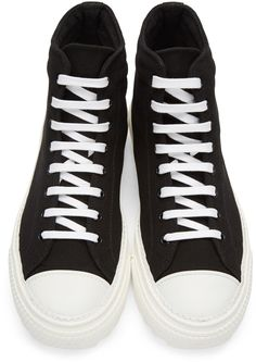 41c553f48fde Moschino - Black Canvas Logo High-Top Sneakers Black Canvas