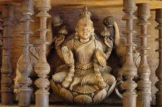 Wooden Pillars, Indian Doors, Pooja Room Design, Main Door Design, Pooja Rooms, Antique Doors, Hindu Art, Indian Home Decor, Sacred Art