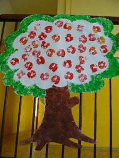 MATEŘSKÁ ŠKOLA SKŘIVÁNEK - Učíme se, tvoříme a hrajeme si s ovocem a zeleninou. - Autumn Crafts, Fall Crafts For Kids, Art For Kids, Autumn Theme, Kids And Parenting, Projects To Try, Apple, Christmas, Inspiration