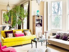 Check Out This London Townhouse with Eclectic, Feminine Style: Featured in Nuevo Estilo, this colorful ladylike space is a pleasure to tour—come inside! via @domainehome designed by Katrina Phillips