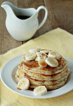 Fluffy banana pancakes   Kitchen Treaty