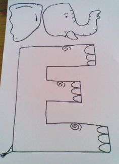 elephant template for preschool - get 39 er done momma alphabet crafts free q is for quail