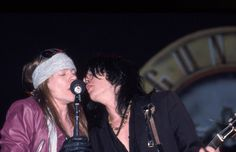 Axl Rose & Izzy Stradlin of american rock band Guns N' Roses, late '80s #axlrose #waxlrose #gnr #gunsnroses #rockstar #rockicon #bestsingerever #hottestmanalive #livinglegend #sweetchildomine #rock n roll #HOT