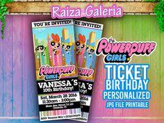 Powerpuff Girls Ticket Birthday Invitation We by RaizaysuGaleria