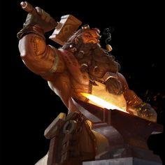 Dwarf Smith by wang jianxi on ArtStation. Fantasy Dwarf, Fantasy Rpg, Medieval Fantasy, Fantasy Races, Dnd Characters, Fantasy Characters, Fantasy Character Design, Character Art, Rpg Pathfinder