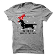 Dachshund Through The Snow - #tee ideas #hoodie and jeans. ORDER HERE => https://www.sunfrog.com/Pets/Dachshund-Through-The-Snow-44244757-Guys.html?68278