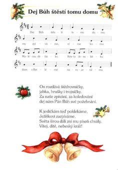 notový zápis vánoční koledy - Hledat Googlem Kids Songs, Christmas Music, Sheet Music, Relax, Holidays, Halloween, Words, Holidays Events, Nursery Songs