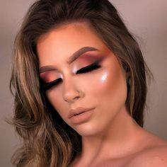 glam makeup – Hair and beauty tips, tricks and tutorials Makeup Is Life, Eye Makeup Art, Glam Makeup, Eyebrow Makeup, Makeup Goals, Beauty Makeup, Hair Makeup, Red Lipstick Makeup, Red Lipsticks