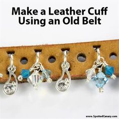Upcycle an old belt into a new bracelet with this fun tutorial!