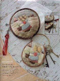 Bags and Purses Chic & Kawaii Patchwork by JapanLovelyCrafts Patchwork Quilt Patterns, Crazy Patchwork, Applique Patterns, Book Crafts, Hobbies And Crafts, Diy And Crafts, Quilting Projects, Sewing Projects, Fabric Crafts