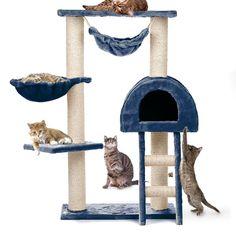 Happypet® CAT018 Kratzbaum Katzenbaum mittelhoch 1,00 hoch Beige: Amazon.de: Haustier