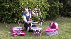 Roxy Roller 3 In 1 Dolls Toy Pram Combination Pushchair Carrycot Car Seat Stroller - YouTube