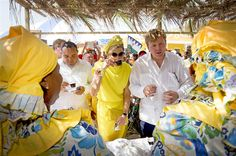 King Willem-Alexander and Queen Maxima of The Netherlands visited the Dia di Rincon at Bonaire on April 30, 2015 in Rincon, The Netherlands.