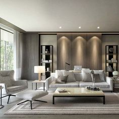 Find your favorite Minimalist living room photos here. Browse through images of inspiring Minimalist living room ideas to create your perfect home. Living Room Trends, Living Room Inspiration, Living Room Modern, Living Room Interior, Home Living Room, Design Inspiration, Design Ideas, Small Living, Design Trends