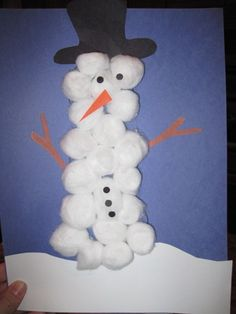 Christmas crafts for kids @Maggie Anderson  - they'd probably love to work with cotton balls!