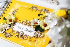 DIANA... Žlutá svatební kniha a košíček na prstýnky