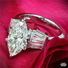 Marquise and Baguette Diamond Engagement Ring | 24301