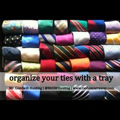 Organize the Ties by folding in half & half again in a drawer! Looks good Tie Storage, Storage Ideas, Subscriptions For Men, Tie Organization, Organizing, Classy Men, Tie Shoes, Sharp Dressed Man, My Guy