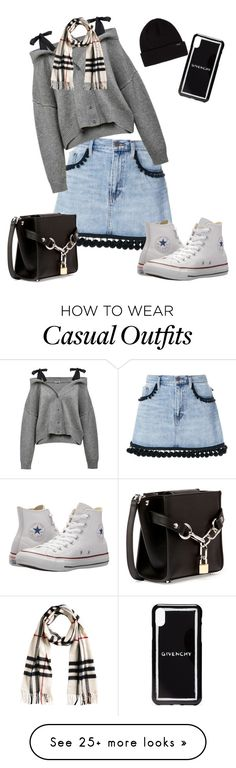 """Casual"" by taepeachyy on Polyvore featuring Marc Jacobs, Converse, Alexander Wang, Givenchy and Burberry"