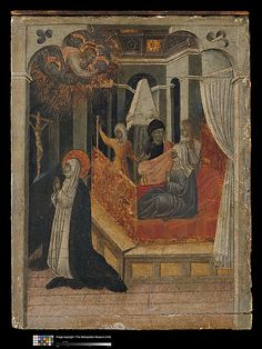 Saint Catherine of Siena Exchanging Her Heart with Christ, Giovanni de Paolo. (no yr, another panel)