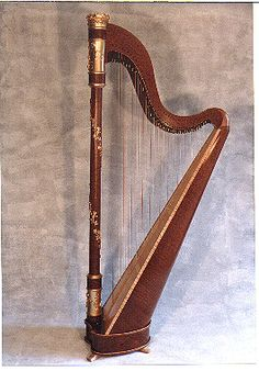 Elegant harp from Piper Harp