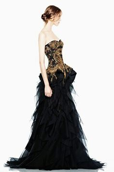 Masquerade gown,gold and black  if there's ever a reason to get all fancy.... THIS