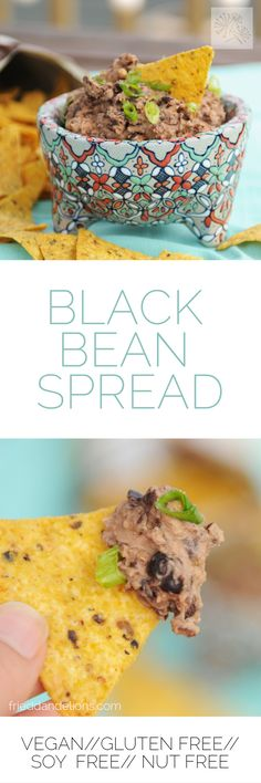 Sarah's black bean spread, you guys!  via @frieddandelions