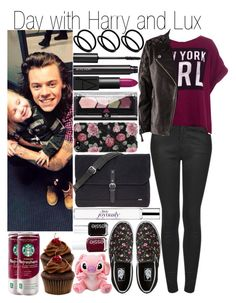 """Day with Harry and Lux"" by fashion-onedirection ❤ liked on Polyvore featuring Topshop, Pull&Bear, H&M, ASOS, Witchery, Vans, NARS Cosmetics, Maybelline, Agent 18 and Sandqvist"