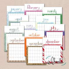 Download A Free Printable Ink Saver  Calendar From Vertex