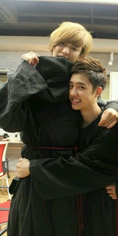 I finally found a picture in which Kyungsoo doesn't look like he's about to murder Baekhyun Yes! -K