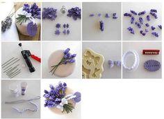 Sugar paste lavender tutorial