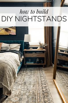 How to build gorgeous wood DIY nightstands for your bedroom. These wide nightstands have plenty of storage and are easy to build! Nightstand Plans, Wood Nightstand, Nightstands, Dresser Bed, Small Dresser, Dresser Ideas, Diy Furniture Renovation, Dresser Knobs And Pulls, Blogger Home