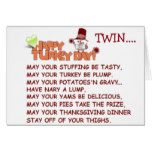 TWIN=ACROSS THE MILES THANKSGIVING WISHES CARD #thanksgiving
