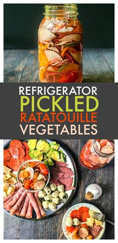 Refrigerator Pickled Ratatouille Vegetables - #SundaySupper fun pickle for picnics, sandwiches, salads and just to munch on as part of a summer appetizer.
