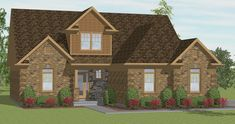 The Williamson  Model # 174 2.5 Baths 3 Bedrooms 1734 Sq. Ft. This cozy Cape Cod has 3 bedrooms and 2.5 baths. The great room and foyer are…