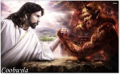 Jung, acceptance of the shadow: Jesus-arm-wrestling devil Jesus Wallpaper, Look Wallpaper, Papa Francisco, Illuminati, Cosmos, Good And Evil, History Channel, Bbc History, History Class