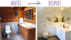 antes y después: reforma total de un baño   lilaygris