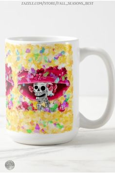* La Calavera Catrina * Laughing Skeleton Woman in Red Bonnet Coffee Mug by Fall_Seasons_Best at Zazzle #Gravityx9 * Mugs are available in several style options. * Dia De Los Muertos coffee mug * day of the dead mugs * la calavera coffee mug * la calavera catrina mug * Custom coffee mugs * gift ideas adults * #FallSeasonsBest #diadelosmuertos #diadelosmuertosmug #diadelosmuertoscoffeemug #calavera #calaveracatrina #lacalavera #dayofthedead #calaveramug 0920