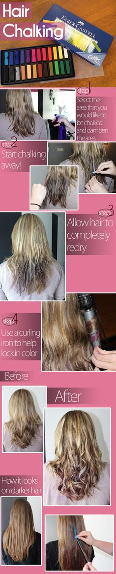 Hair Chalking is fun and easy!