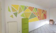 Grün Orange Symphonie Mosaik Wand Streifen Dreiecke