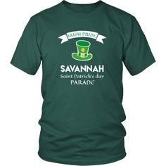 "Saint Patrick's Day - "" Savannah Irish Pride Parade "" - custom made funny t-shirts.-T-shirt-Teelime 