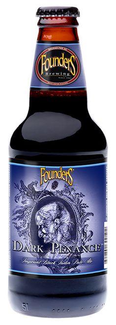 Cerveja Dark Penance Imperial Black IPA, estilo Black IPA, produzida por Founders Brewing, Estados Unidos. 8.9% ABV de álcool.