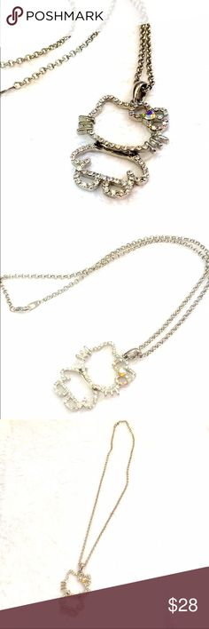 8a0d0b9a1 💐SALE💐Hello Kitty Rhinestone Necklace No missing Rhinestones. Chain  measures approximately and pendant about Hello Kitty Jewelry Necklaces. Cat  Moja