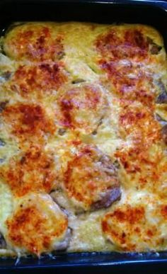 **Liptovské rezne - zapekané bravčové karé** Pizza, Cheese, Food, Meal, Essen, Hoods, Meals, Eten