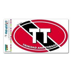 Trinidad And Tobago Country Flag - TT Euro Oval Flag MAG-Neato'stm Automotive Car Refrigerator Locker Vinyl Magnet