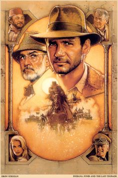Artwork for Indiana Jones and the Last Crusade official licensed movie-poster by Drew Struzan