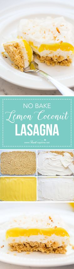 NO BAKE Lemon Coconu