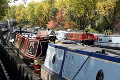 Little Venice is a hidden gem in London. Despite being a beautiful area with colorful canal boats and beautiful buildings lining the way, not many people visit. Little Venice London, Uk Capital, Maida Vale, Boat Painting, Canal Boat, Boating, Good Things, Ships, Sailing