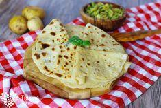Domáce zemiakové lokše - Tinkine recepty Tofu, Tacos, Food And Drink, Bread, Meals, Ethnic Recipes, Meal, Brot, Baking