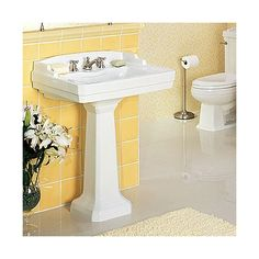 St Thomas Creations Neo-Venetian Pedestal Lavatory | Wayfair $129